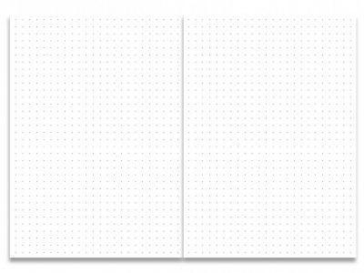 Creations of Happiness Schriftje met dots pagina's – Zwart-wit – A6 Bullet Journal