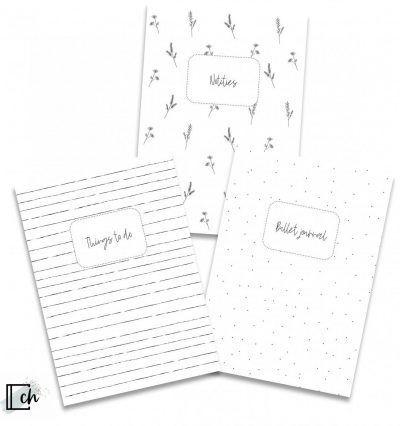 Creations of Happiness Schriftjes – Set van 3 stuks – A6 Boeken in de aanbieding
