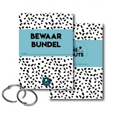 Studio Ins & Outs Bewaarbundel kaarten – Lichtblauw – A5 Bewaarbundel geboortekaartjes