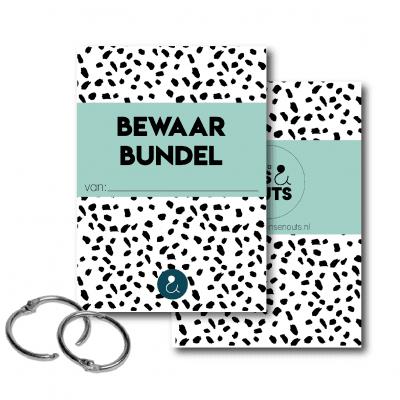 Studio Ins & Outs Bewaarbundel kaarten – Mint – A5 Bewaarbundel geboortekaartjes