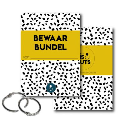 Studio Ins & Outs Bewaarbundel kaarten – Okergeel – A5 Bewaarbundel geboortekaartjes