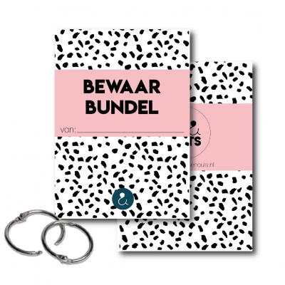 Studio Ins & Outs Bewaarbundel kaarten – Roze – A5 Bewaarbundel geboortekaartjes