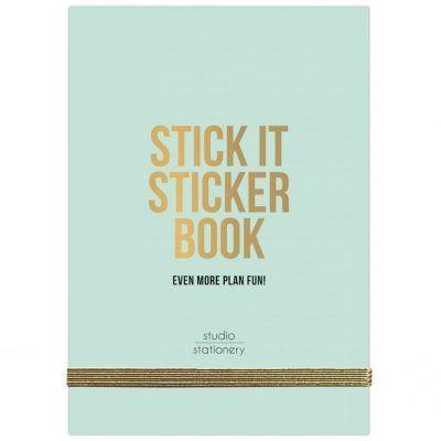 Studio Stationery – Stick It Stickerboek green Scrapbook stickers