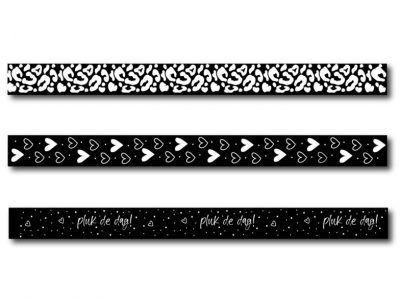 Winkeltjevananne Boek elastieken met penlus – Set 5 (3 stuks) Boek elastiek