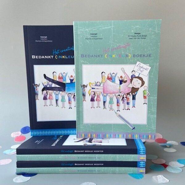 Inkollors Afscheidsboekje bedankt meester Afscheidsboekje voor de meester