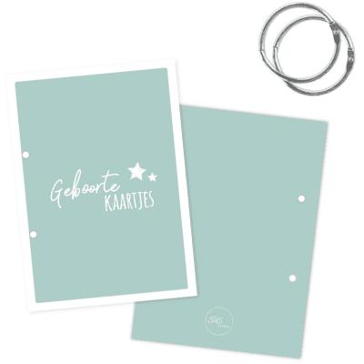 SUS Design Bewaarbundel geboortekaartjes – Mint – A5 Bewaarbundel geboortekaartjes