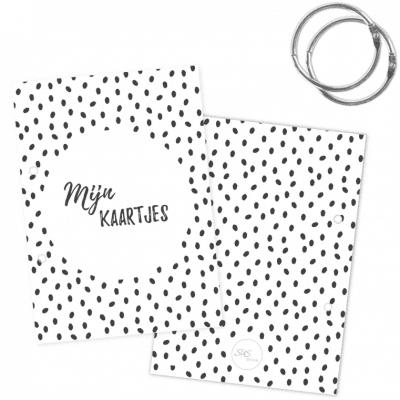 SUS Design Bewaarbundel Mijn kaartjes – Zwart-wit stip – A5 Bewaarbundel geboortekaartjes