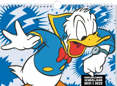 Donald Duck familieplanner schooljaar 2021-2022 Familie kalender