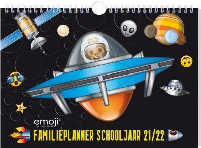 Emoji – Space Monkey familieplanner schooljaar 2021-2022 Familie kalender