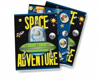 Emoji Space Monkey Schriften – A5 – Set van 3 stuks Schriften