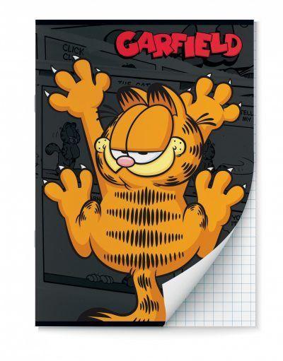 Garfield Schriften ruitjes – A4 – Set van 2 stuks Schriften