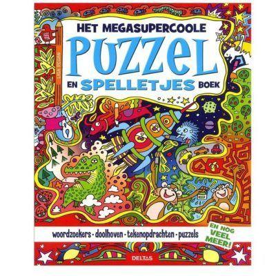 Het megasupercoole puzzel en spelletjesboek Puzzelboek voor kind