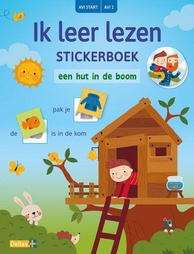 Ik leer lezen Stickerboek – Een hut in de boom (AVI START / AVI 1) Kinderstickers