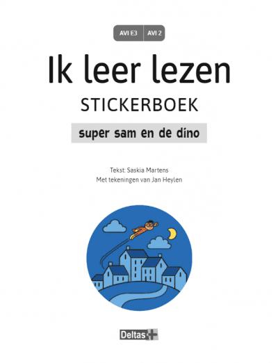 Ik leer lezen Stickerboek – Super Sam en de dino (AVI E3 / AVI 2) Kinderstickers