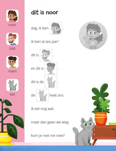 Ik leer lezen Stickerboek – Wat een dag voor Noor! (AVI START / AVI 1) Kinderstickers