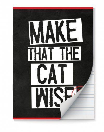 Make That The Cat Wise Schriften lijntjes – A4 – Set van 2 stuks Schriften