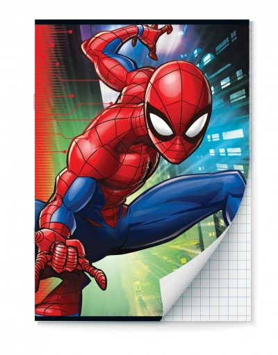 Spiderman Schriften ruitjes – A4 – Set van 2 stuks Schriften