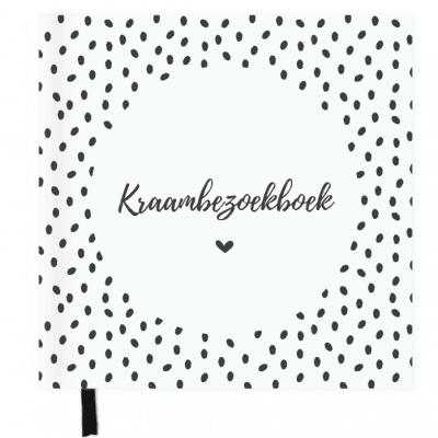 SUS Design Kraambezoekboek – Zwart-wit stip Kraambezoekboek