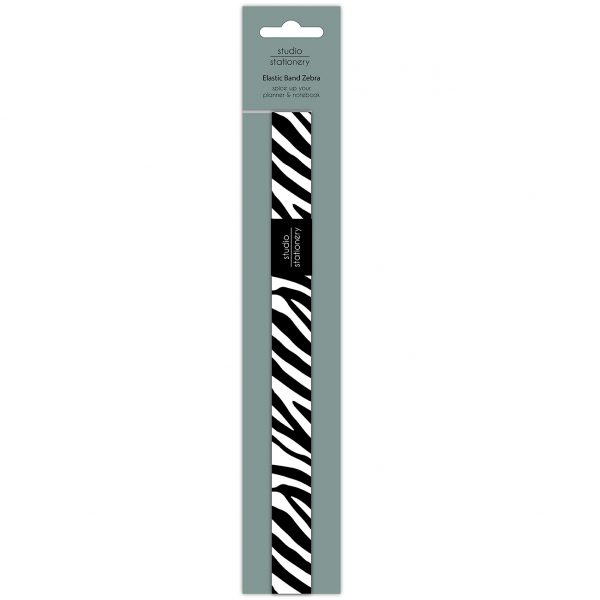 Studio Stationery Boek elastiek – Zebra Boek elastiek