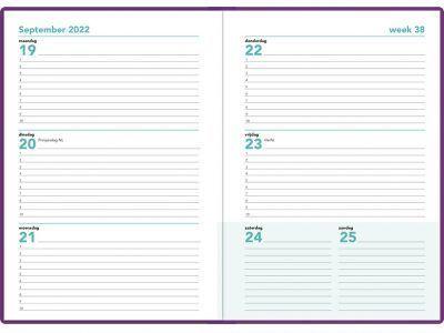 16 maanden agenda 2021-2022 – A5 – Paars Schoolagenda