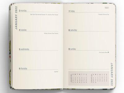 Peter Pauper 16 maanden agenda 2021-2022 – Watercolor Succulents Schoolagenda