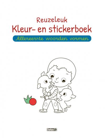 Reuzeleuk kleur- en stickerboek – Allereerste woorden vormen (5-6 j.) (versie 2) Kinderstickers
