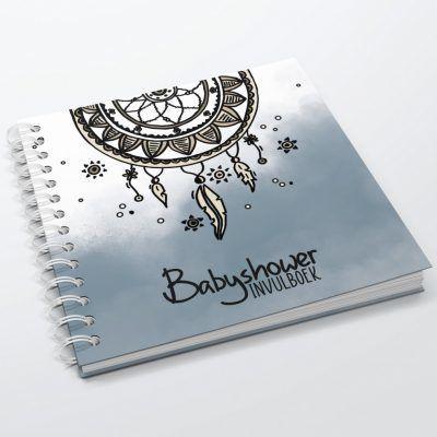 SilliBeads Babyshower invulboek – Blauw Babyshower cadeau