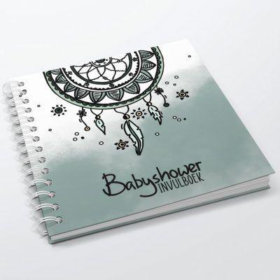 SilliBeads Babyshower invulboek – Groen Babyshower cadeau