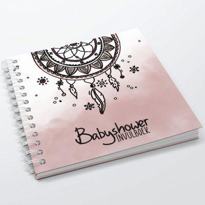 SilliBeads Babyshower invulboek – Roze Babyshower cadeau