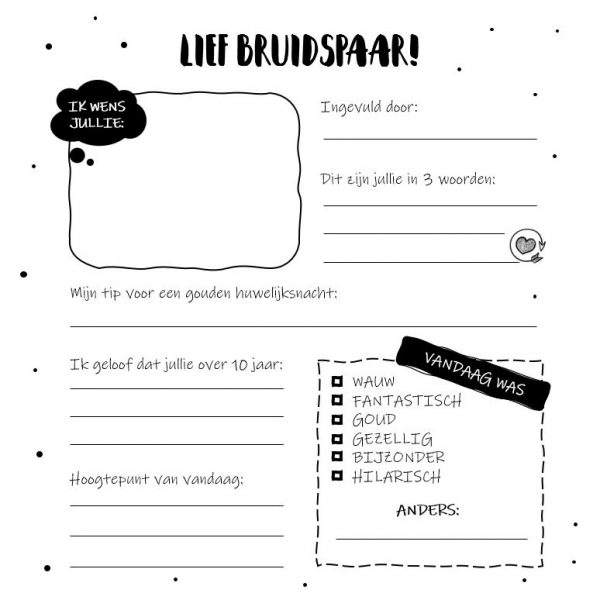 SilliBeads Gastenboek bruiloft – 100 gasten Gastenboek bruiloft