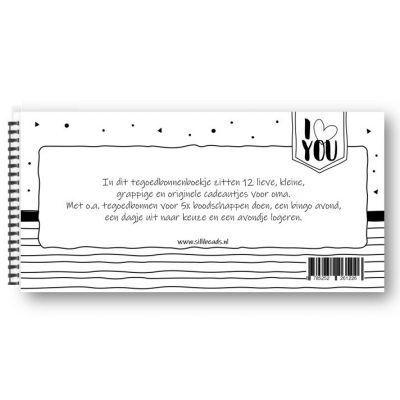 SilliBeads Tegoedbonnen – Voor de liefste oma Invulboek oma