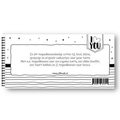 SilliBeads Tegoedbonnen – Voor de liefste tante Invulboek tante