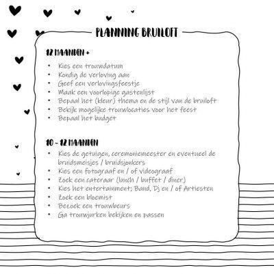 SilliBeads Wedding planner invulboek Wedding planner boek