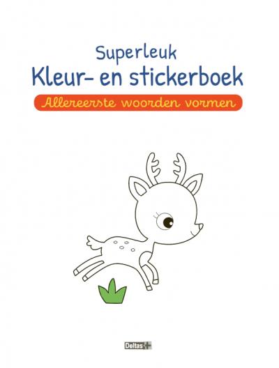 Superleuk kleur- en stickerboek – Allereerste woorden vormen (5-6 j.) Kinderstickers