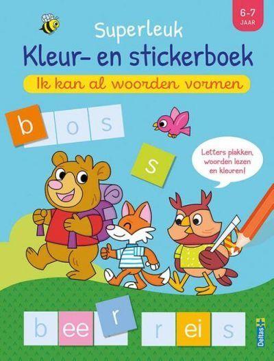 Superleuk kleur- en stickerboek – Ik kan al woorden vormen (6-7 j.) Kinderstickers