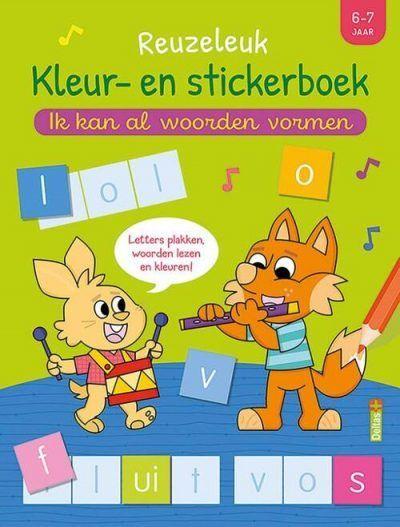Superleuk kleur- en stickerboek – Ik kan al woorden vormen (6-7 j.) (versie 2) Kinderstickers