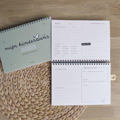 Thuismusje Mijn kinderwensdagboek – Groen – A5 Kinderwens dagboek