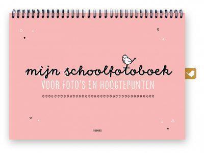 Thuismusje Mijn schoolfotoboek – Roze – A4 Schoolfotoboek