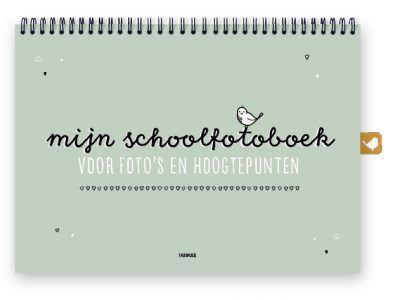 Thuismusje Mijn schoolfotoboek – Groen – A4 Schoolfotoboek