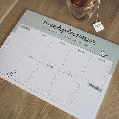 Thuismusje Weekplanner – A4 Weekplanner