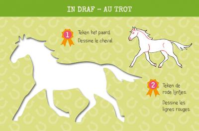 Zo teken je paarden – 12 sjabloonkaarten Kleurboek dieren