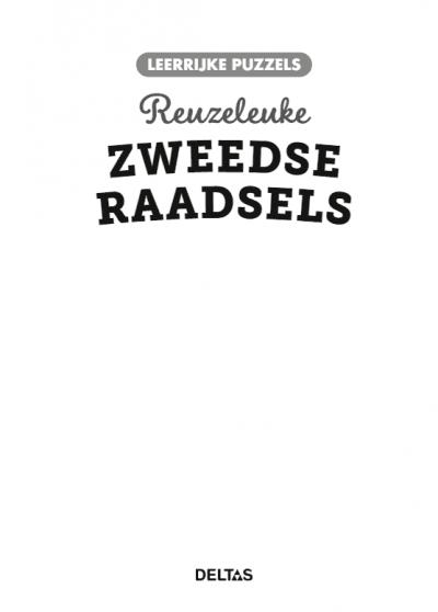 Leerrijke puzzels – Reuzeleuke Zweedse raadsels (10-12 j.) Puzzelboek voor kind