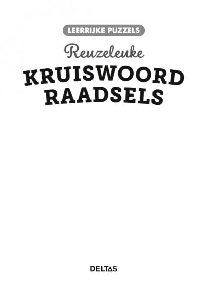 Leerrijke puzzels – Reuzeleuke kruiswoordraadsels (10-12 j.) Puzzelboek voor kind