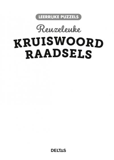 Leerrijke puzzels – Reuzeleuke kruiswoordraadsels (8-9 j.) Puzzelboek voor kind