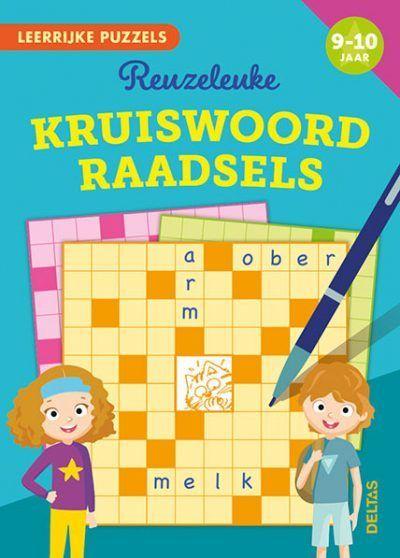 Leerrijke puzzels – Reuzeleuke kruiswoordraadsels (9-10 j.) Puzzelboek voor kind