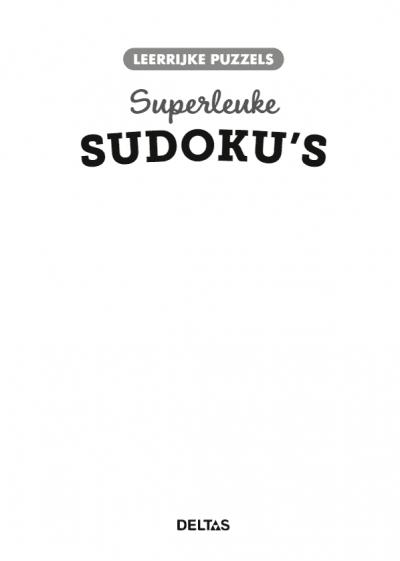 Leerrijke puzzels – Superleuke sudoku's (10-12 j.) Puzzelboek voor kind