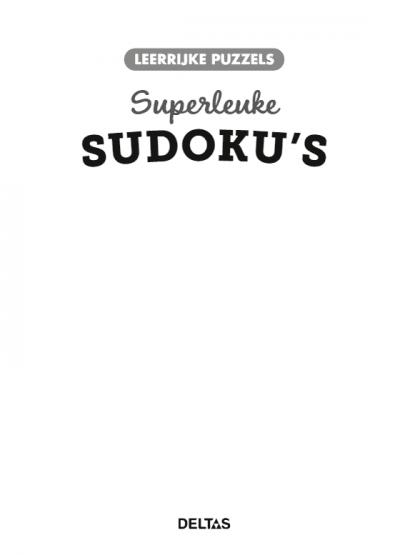 Leerrijke puzzels – Superleuke sudoku's (8-9 j.) Puzzelboek voor kind