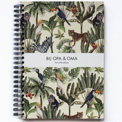 Leukigheidjes Bij Opa & Oma invulboek – Jungle Cadeauboeken