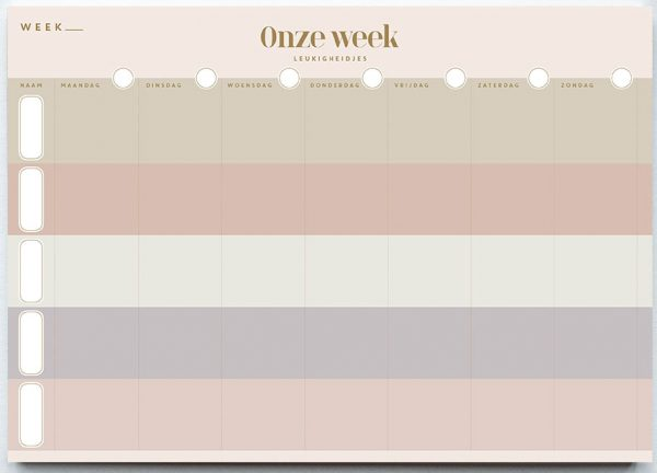 Leukigheidjes Gezinsplanner – A4 Familie kalender