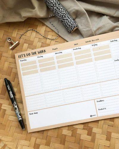 Oh My Goody – Weekplanner 'Let's do the work' A4 Jaarplanner